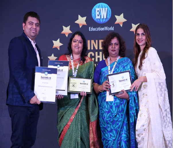 BILLABONG High School Noida is awarded for securing #5th Rank in NOIDA by EducationWorld Survey 2019..